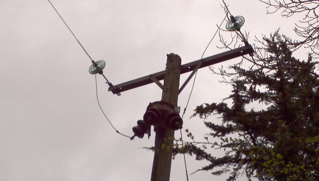A 48 year old cable termination at the top of pole NLK20